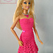 Fashion doll strapless flared dress pattern