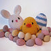 Easter Decorations - Chick, Egg, Bunny pattern