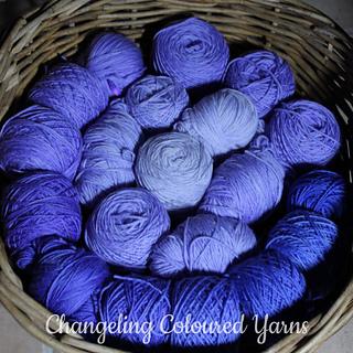 Changeling Coloured Yarns: Lavender sock yarn