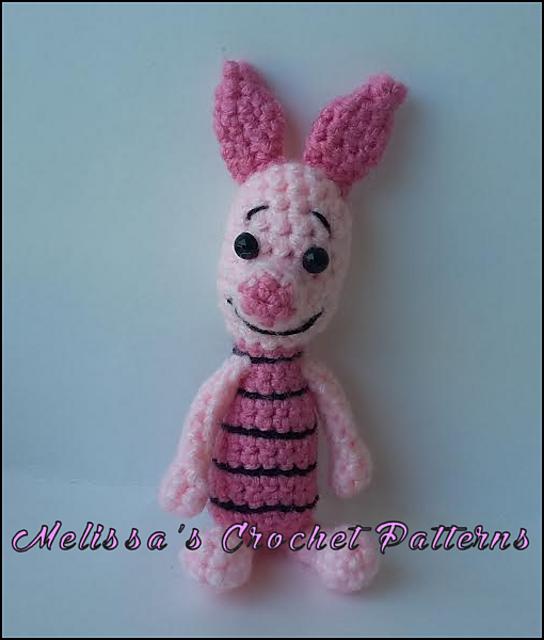 Piglet (Winnie the Pooh) Amigurumi Pattern ⋆ Crochet Kingdom | 640x544