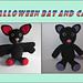 Halloween Bat and Cat pattern