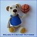 Bear Thompson the Basketball Bear pattern