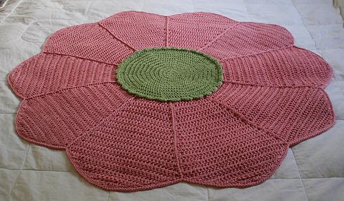 finished flower blanket