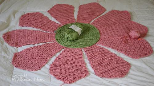 Flower Blanket- almost done