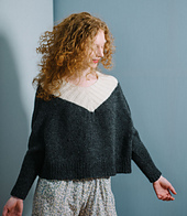 Long sleeves & tight cuffs, worsted weight merino yarn
