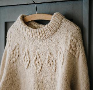 Macrame Motif Sweater pattern by Midori Hirose