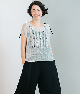 Sample 4: modificated sleeveless version with fingering weight (see my project note)
