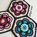 Painted Flower Hexagon pattern