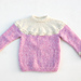 Little ice cream sweater / Liten iskremgenser pattern