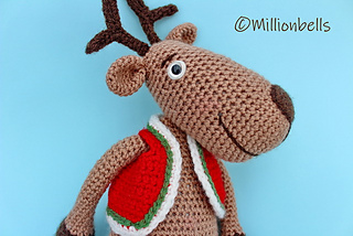 Reindeer crochet tutorial - YouTube | 214x320