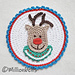 Reindeer Head Christmas Applique pattern