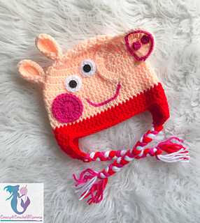 Ravelry: Pink Pig hat pattern by