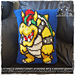 Bowser Pillow in Tunisian pattern
