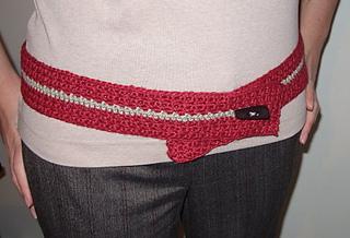 red belt modeled