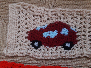 Testautootje met voor- en achterruit. Testcar (basic pattern) with front and back window.