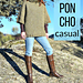 Casual poncho pattern