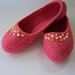 Ladies Ballet Felted Slipper pattern