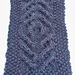GIANT Knit Third Eye Cabled Baby Blanket pattern