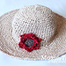 Shady Dahlia Straw Sun Hat pattern