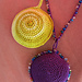 Crochet Medallion and Beaded Crochet Medallion Necklace pattern