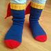 Steely Man Socks - Superman tribute pattern