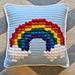Rainbow Puff Throw Pillow pattern