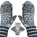 Nattugla | Night Owl Mittens pattern