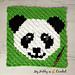 Panda Lee C2C Square pattern