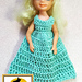 Gown For Tiny Teen 5 inch Doll pattern