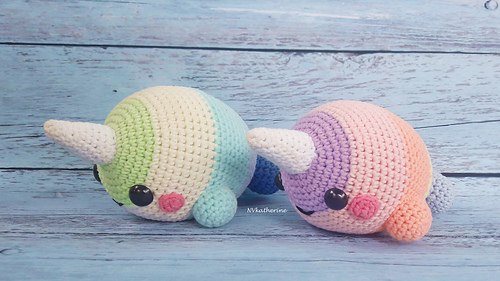 Amigurumi Narwhal free pattern - A little love everyday! | 281x500