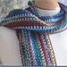 Man's Easy Striped Scarf pattern