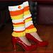 Candy Corn Leg Warmers pattern