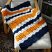 Baby Sports Fan Ripple Blanket pattern