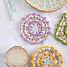 Lacy crochet coasters pattern
