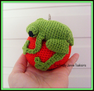 Miniature Tree Frog - Realistic Crochet Red Eyed Tree Frog ... | 311x320