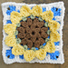 Sunny Sunflower Square pattern