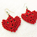 Heart Shaped Dangle Earrings pattern