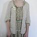 Beige 3/4 Length Sleeve Cardigan pattern