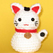 Onni the Beckoning Cat (Maneki Neko) pattern