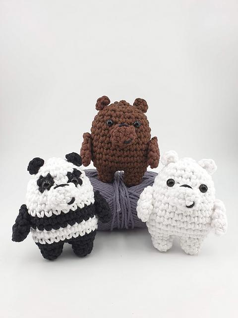 CROCHET PATTERN: We Bare Bears Inspired Bear Stack (large ...   640x480
