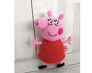 Amigurumi Peppa Pig Free Knitting Pattern | 254x320