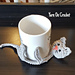 Cat Cuddle Coaster pattern