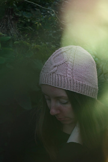 Alina Hat shown with cable panel in the middle