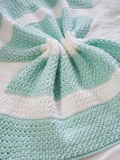 Sweet Stripey Dreams Baby Blanket