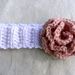 No Sew Ruffle Rose & Ribbed Headband pattern