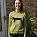 Dachshund adult raglan sweater pattern