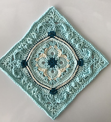 Large Square - Teal on Teal