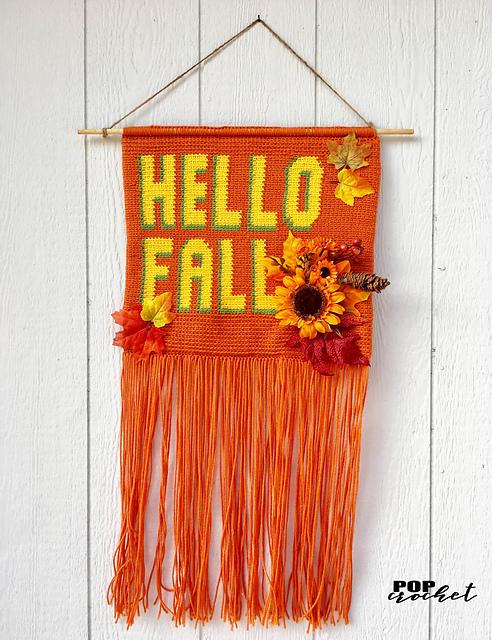 Ravelry Hello Fall Banner Pattern By Pop Crochet