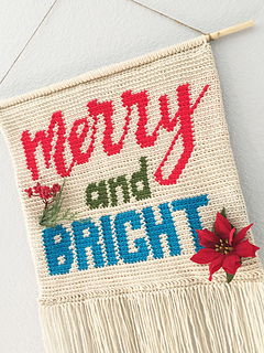Ravelry Merry And Bright Pillow Or Wall Hanging Banner Pattern By Pop Crochet