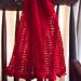 1-row crimson scarf pattern
